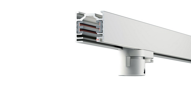 erco 3 phasen stromschiene 78341 in wei 1 meter. Black Bedroom Furniture Sets. Home Design Ideas